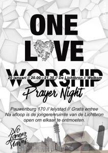 """Prayer Night """"OneLove"""" voor jongeren @ De Lichtbron"""