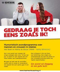 Humoristisch avondprogramma over mannen en vrouwen in relaties @ De Hoeksteen